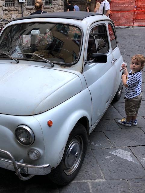 Leonardo with his Fiat