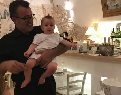Baby with Italian Waiter