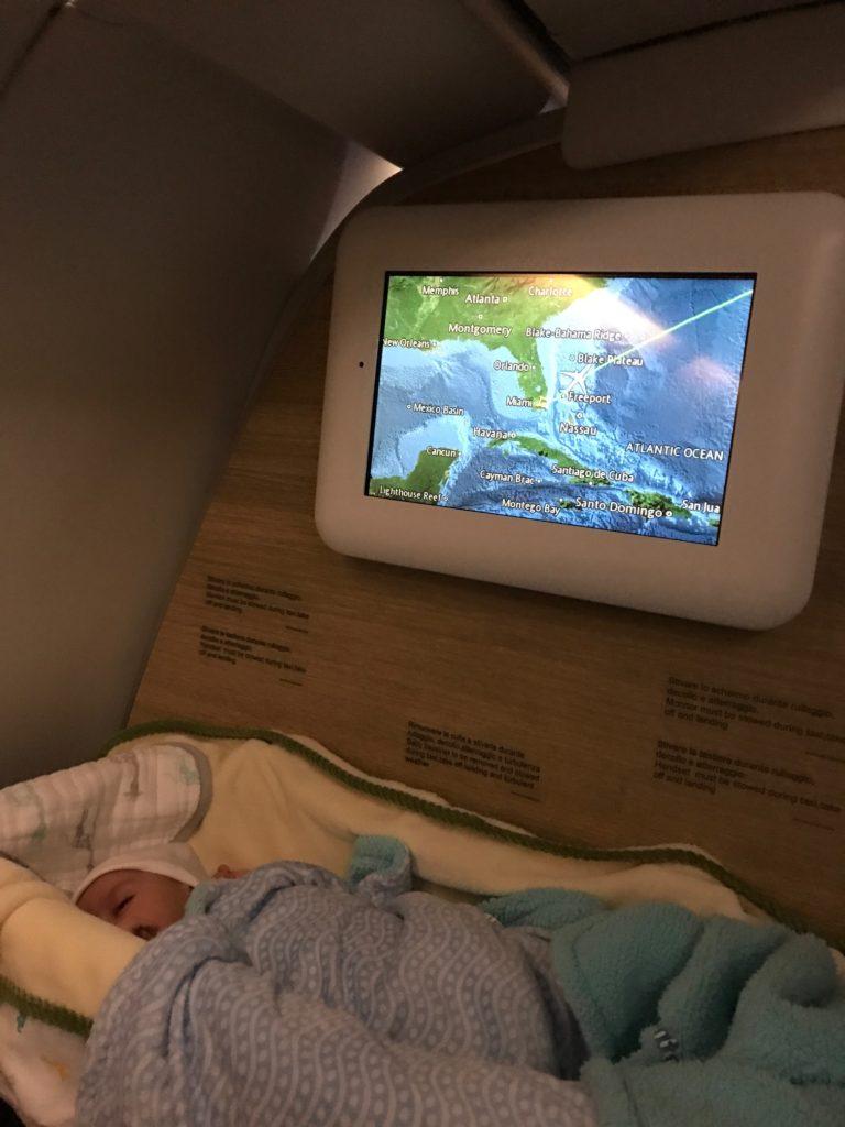 Bassinet on Alitalia Flight